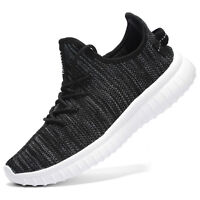 Men's Knit Breathable Casual Sneakers Lightweight Athletic Tennis Walking shoes