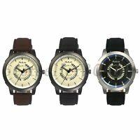 Men's Fashion Date Calendar Dial PU Leather Strap Quartz Analog Wrist Watches