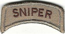 "1"" x 2 1/4"" DCU Desert Tan Brown Sniper Tab Patch VELCRO® BRAND Hook Fastener"