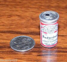 Vintage Miniature Genuine Budweiser Beer Can For Dollhouses! Made in Taiwan!
