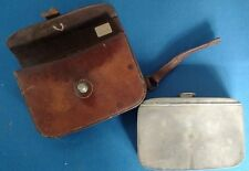 Rare Vintage Antique Primitive Leather Fly Fishing Lure Tackle Box Carry Case