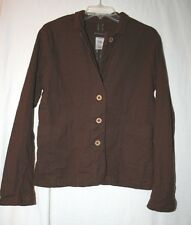 Patagonia Womens Size 12 Long Sleeve Brown Button Front Jacket Coat Blazer
