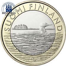 Finnland 5 Euro Münze 2014 bfr. Tiere der Provinzen: Prachttaucher - Savonia