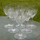 Service de 6 verres à vin blanc en cristal de Nancy. Signés
