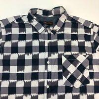 Northwest Territory Button Up Shirt Men's Size XLT Short Sleeve Checkered Cotton