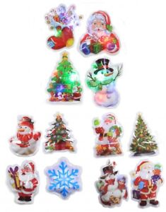 Christmas Window Flashing Sticker Decoration LED Xmas Decor