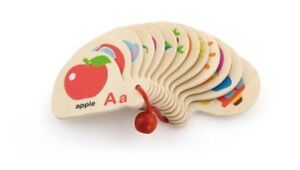 MINI LEARNING ALPHABET Picture Wooden Cards Pocket Size Travel Educational Toy