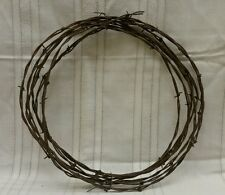 VTG Barb Wire 10 Feet Arts Crafts Western Decorate Rusty Used Barbed Barbwire
