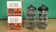 Matched Pair of GE 5-star 5751 Black Plate Triple Mica NOS NIB 1959 Vacuum Tubes