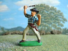 Vintage  Wild west cowboy with rifle 70mm painted