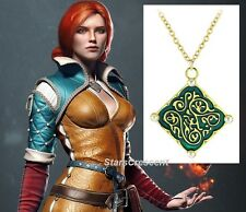 WITCHER III 3 Wild Hunt TRISS MERIGOLD Pearl Medallion Pendant Necklace Cosplay