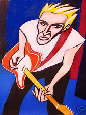 ANDY SUMMERS PRINT poster the police I advance masked cd fender telecaster rock