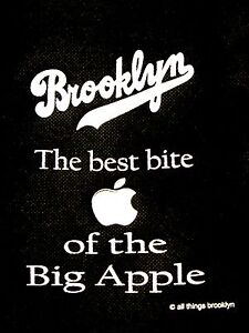 Brooklyn the BEST BITE of the BIG APPLE Grocery Bag SAVE the PLANET No Plastic