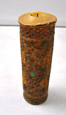 Carved Wax Candles Candle Flower Tan Gilt Scroll Diamond