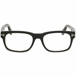 Tom Ford TF5432 005 Black Plastic Rectangle Eyeglasses Frame 52-18-145 FT5432