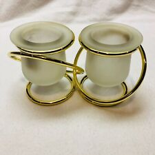 PartyLite Inter-twined Gold Rings for Votives or Tealights Retired