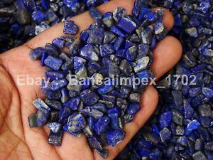1 KG Natural Lapis Lazuli Rough Crystals Tumble nuggets Chips Loose Gemstone