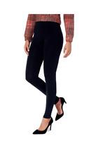 HUE Brushed Seamless Leggings, Soft Cozy Lining, Black, M/L (US 10-12), NWOT