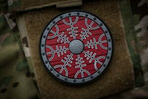 Viking Shield Nordic Morale PVC Patch MoeGuns Warriors of Old Hook Backing