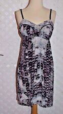 TWELFTH STREET BY CYNTHIA VINCENT Silk PATTERN SPAGHETTI STRAP DRESS New S $310