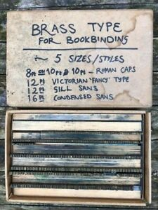 Antique Bookbinding finishing tool Brass Type Sets Foil Stamping