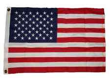 2x3 Embroidered USA American 600D Sewn Nylon Flag 2'x3' 2 Clips Pin