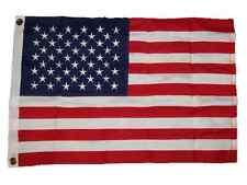 2x3 Embroidered USA American 600D Sewn Nylon Flag 2'x3' 2 Clips Pin
