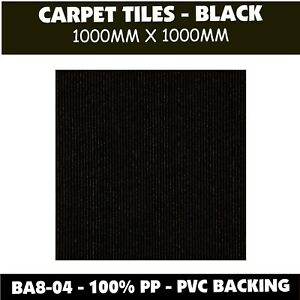 CARPET TILES – 1000x1000 - BLACK  - SAVE 60%* ON RETAIL PRICES Home or Office