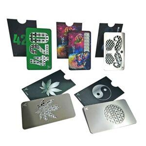 Credit Card Tobacco Dry Herb Grinder Leaf Einstein T=HC2 420 Theme V-Syndicate