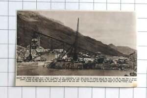 1948 Work Underway Raising The Height Of Loch Sloy With Dam