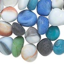 9053GL Embellishment Mix Bead See Beach Glass MM 16mm Undrilled Nugget, 1/2 kilo