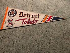 1990s Detroit Tigers Toledo Mud Hens Baseball Pennant Full Size
