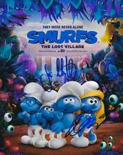 Smurfs The Lost Village In-Person AUTHENTIC Autographed cast Photo COA SHA#91289