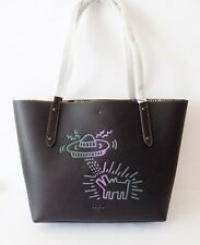 NWT Coach 28643 Keith Haring UFO Dog Market Tote ~Black