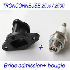 Piece tronconneuse 25 cc 2500 bride admission + bougie