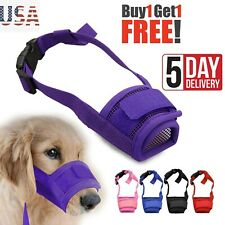 Buy1 Get 1Free S-Xl Dog Muzzle Anti Stop Bite Barking Chewing Mesh Mask Training