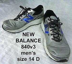 Men's New Balance 840v3 M840SB3 Cushioning Running Shoe Black Silver Gray 14 D