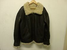 VTG USAF Jacket Type G-8 Sheepskin Leather Bomber Coat: Pilots Coat SMALL