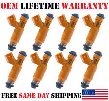 Set of 8 Genuine OEM Fuel Injectors For Land Rover Jaguar S-Type XK8 4.2L 4.4L