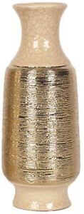 30.5cm Tall Gold Ripple Flower Vase Table Vase