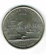 2005-P Brilliant Uncirculated Minnesota 32TH State Quarter Coin!