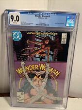 DC COMICS Wonder Woman #9-  Origin Of The New  Cheetah -  CGC 9.0 - Perez Cover