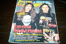 METAL HAMMER MAG 1/1996 IRON MAIDEN RUNNING WILD DEF LEPPARD RITCHIE BLACKMORE