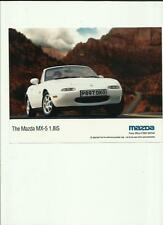 "MAZDA MX-5 1.8iS ORIGINAL PRESS PHOTO "" BROCHURE  RELATED"""