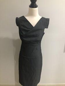 Jacqui E Women's Perfect Day Wear Fine Stripe Pencil Shift Dress Size 12