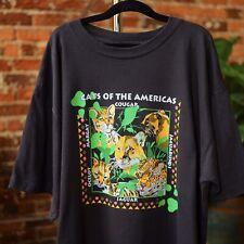 Wild Cat T Shirt Cats Of The Americas Cougar Jaguar Ocelot Margay Xl Vintage Tee