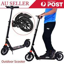 Adult City Suspension Push Kick Scooter Folding Large 200mm Wheels Push Scooter