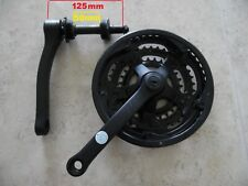 bike 125 /50mm bottom bracket + 3 speed 28 / 38 /48T crank set 170mm arm chrome.