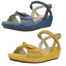 Scarpe Sandali in pelle gialla per bambine dai 2 ai 16 anni