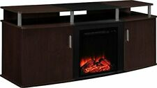 "Ameriwood Home Carson Electric Fireplace TV Console for TVs up to 70""  Cherry"